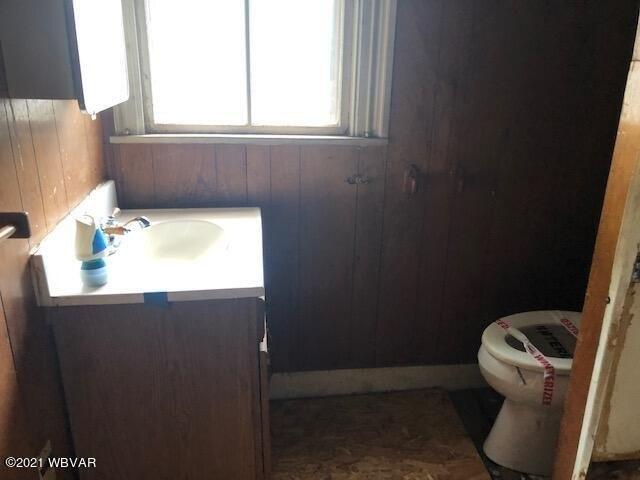 Bathroom featured at 2325 Slacks Run Rd, Trout Run, PA 17771