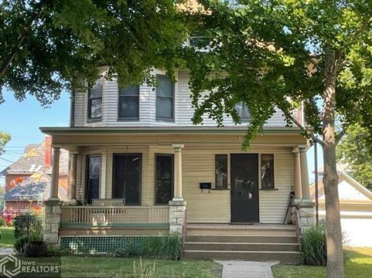 Porch featured at 807 N 8th St, Burlington, IA 52601