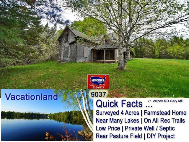 Yard featured at 71 Wilcox Rd, Cary Plt, ME 04471