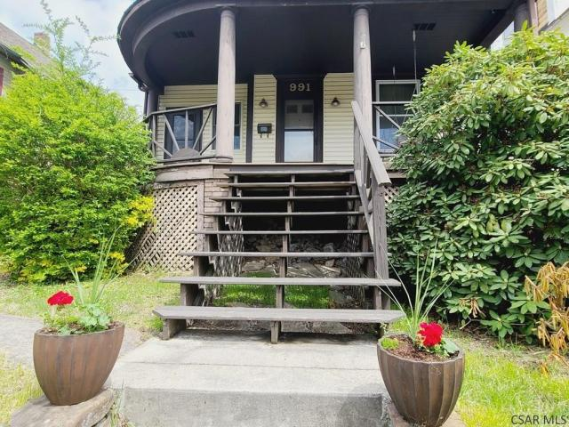 Porch featured at 991 Ash St, Johnstown, PA 15902