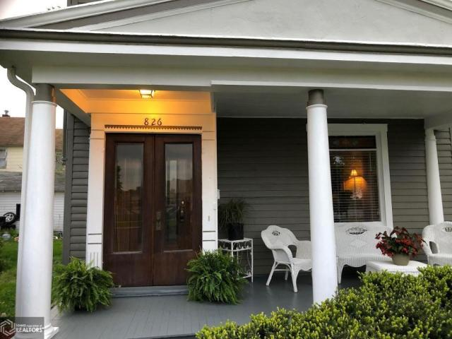 Porch featured at 826 N 8th St, Burlington, IA 52601