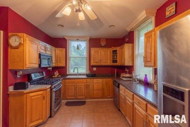 Kitchen featured at 610 E IL Route 17 St, Wenona, IL 61377
