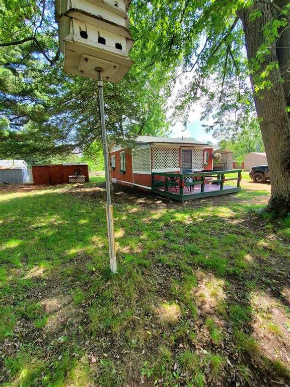 Porch yard featured at N3578 Franks Dr, Montello, WI 53949