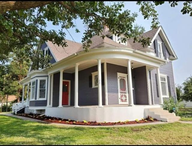 Porch featured at 211 N Rodehaver St, Oberlin, KS 67749
