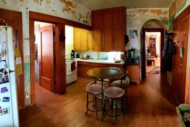 Kitchen featured at 321 E 1st St, Bison, KS 67520