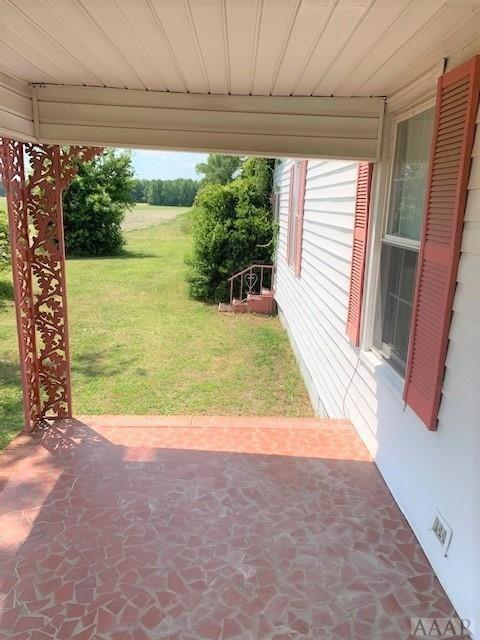 Porch yard featured at 2507 N Highway 45, Colerain, NC 27924