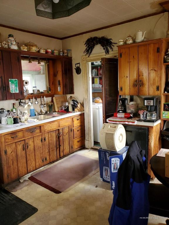 Kitchen featured at 3479 Military Rd, Haynesville, ME 04497