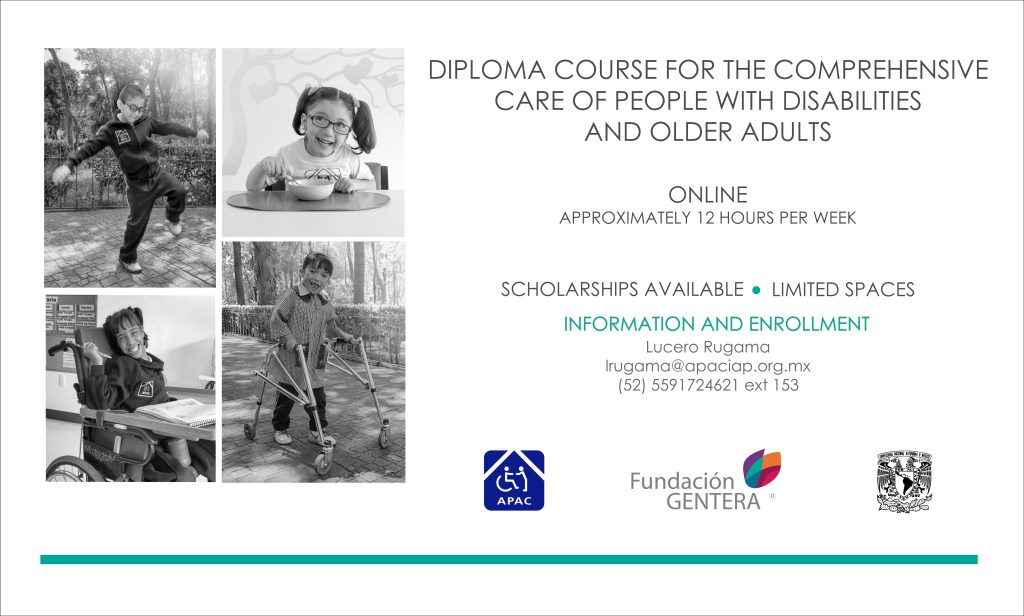Diploma course for the comprehensive care of people with disabilities and older adults