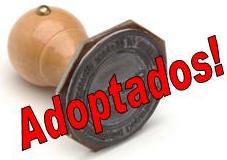 adoptados carimbo