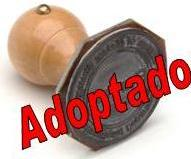 adoptado carimbo