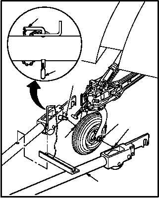 Remove towbar from helicopter