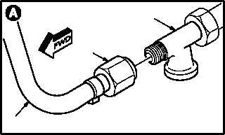 PRIMARY HYDRAULIC PUMP SEAL DRAIN HOSE REPLACEMENT