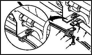 UTILITY HYDRAULIC PUMP TUBING SUPPORT BRACKET REMOVAL
