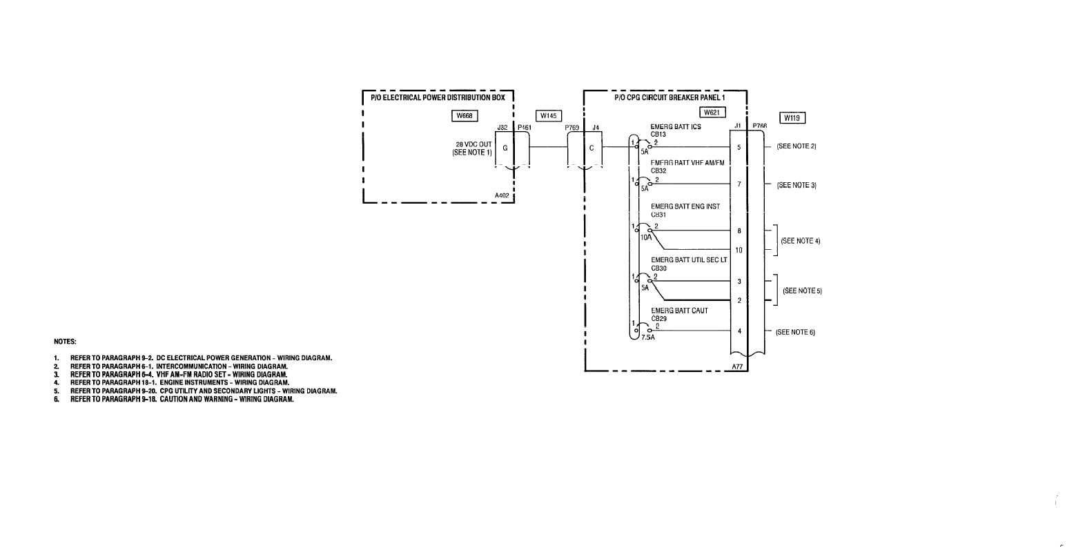 hight resolution of circuit protection dc emergency bus cpg station wiring diagram 9 1 5 sheet 1 of 1 m50 219a 9 26