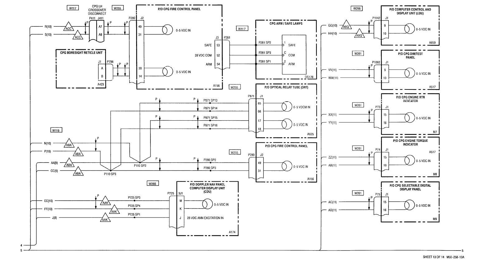 Sheet 13 Of 14 M50 258 13a