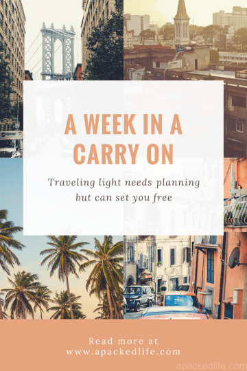 A Week In a Carry On Packing Light for Summer