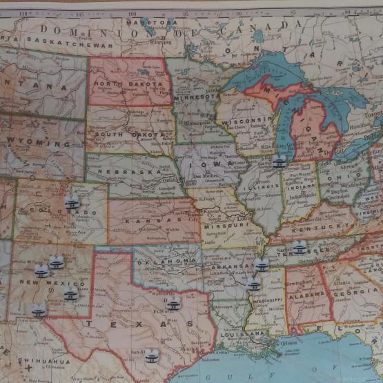 USA Map apackedlife.com Where we've been so far.