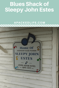 Hidden across a parking lot, this is the home of one of the Blues pioneers, Sleepy John Estes