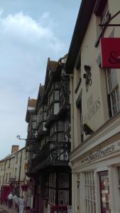 Containing a balcony ready for electioneering, this is the Feathers Hotel, Ludlow