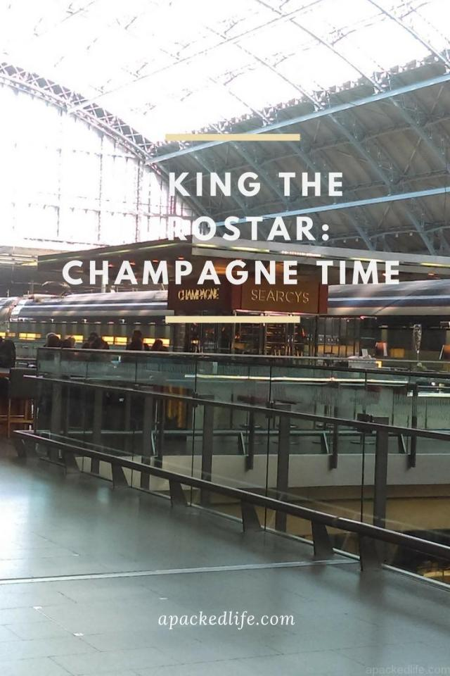 Taking the Eurostar - St Pancras Champagne Bar