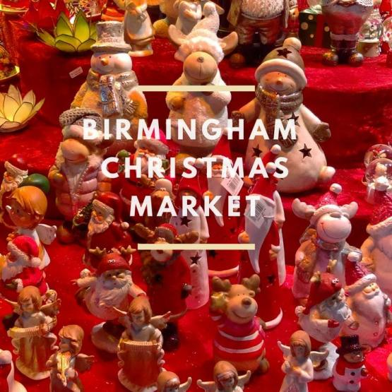 Birmingham Christmas Market - red ornaments