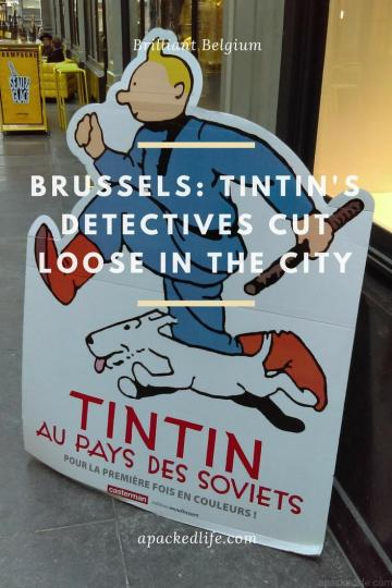 Brussels - Tintin's Detectives Cut Loose In The City - Sign