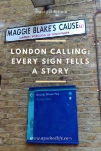 London Calling Shad Thames Maggie Blake's Cause