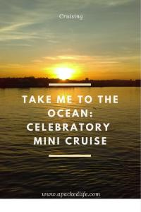 ake Me To The Ocean - Celebratory Mini Cruise - Sunset at Tilbury