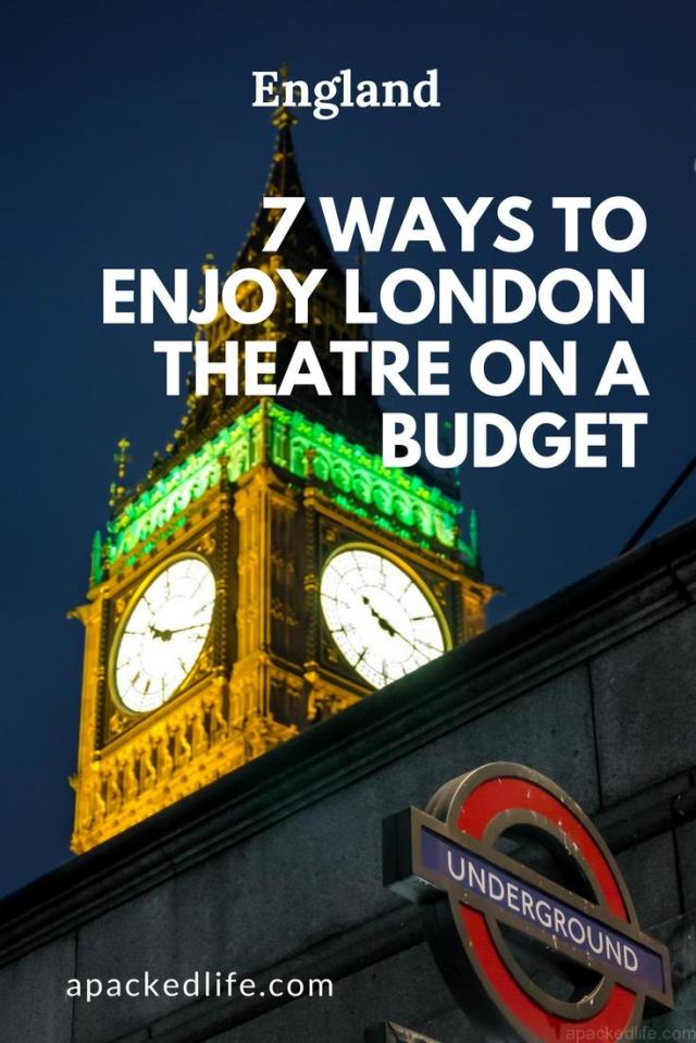 7 Ways To Enjoy London Theatre on a Budget - Big Ben at night