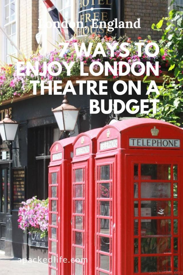 7 Ways To Enjoy London Theatre on a Budget - London phone boxes
