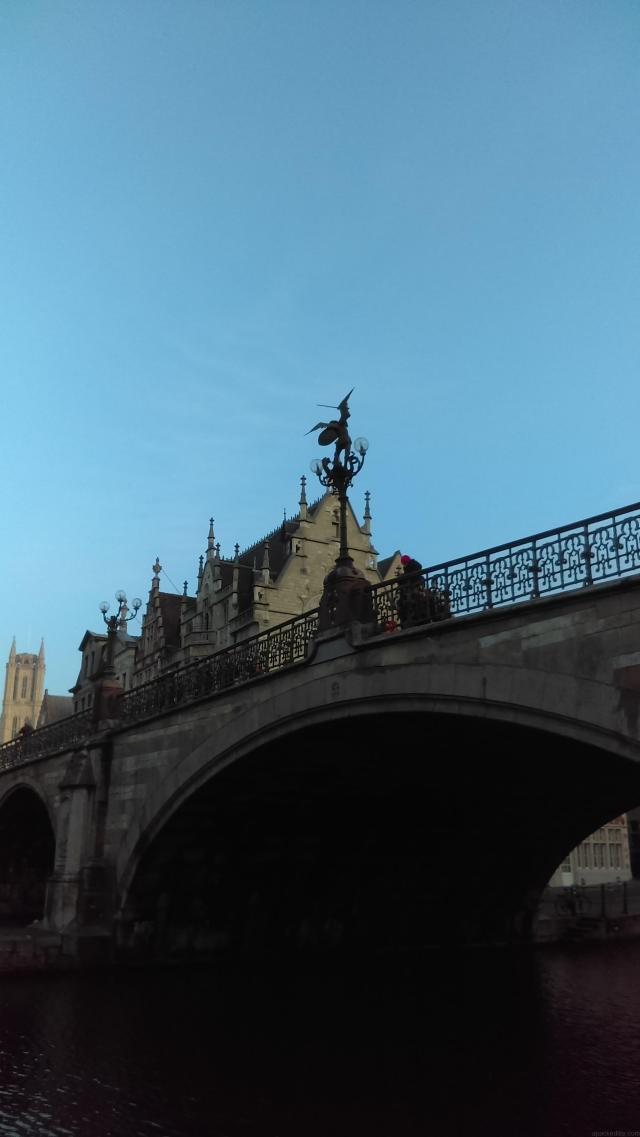 One Day In Ghent, Belgium - Graslei. St Michael's Bridge