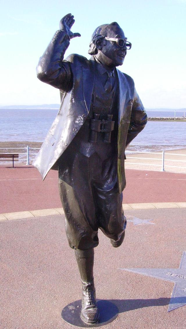 11 Lovely Locations in Lancashire - Statue of Eric Morecambe on Morecambe sea front