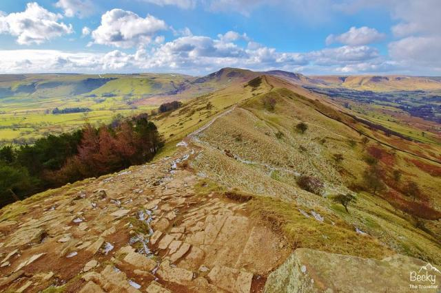 Cool or Unusual things to do in England - Mam Tor from Castleton, Peak District