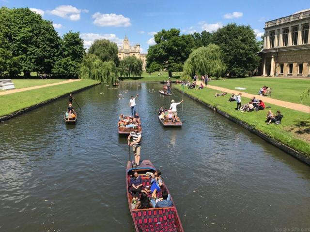 Cool or unusual things to do in England - punting on the river in Cambridge