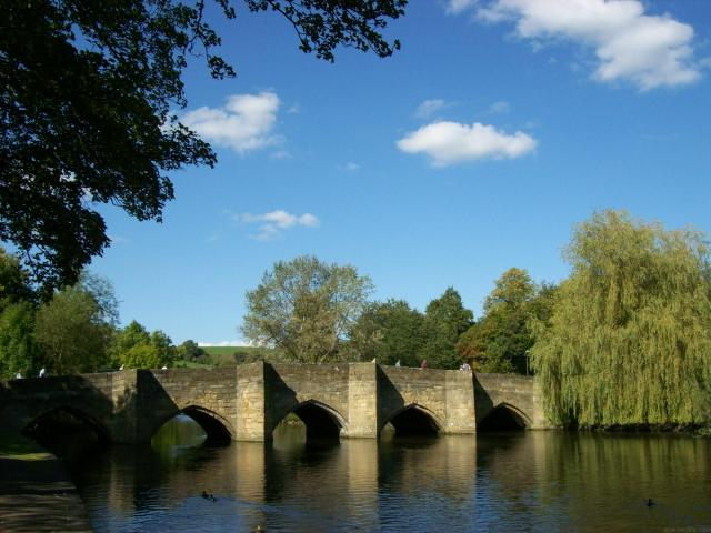 Undiscovered Places In England: Bridge over the River Wye in Bakewell, Peak District