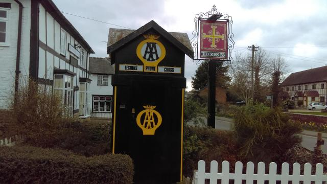 Discovering Herefordshire's Hidden Black And White Villages - England's first AA box at Eardisland, Herefordshire