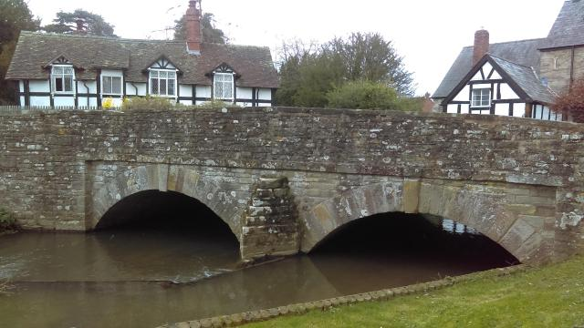 Discovering Herefordshire's Hidden Black And White Villages - Bridge View from the Georgian Dovecote at Eardisland, Herefordshire