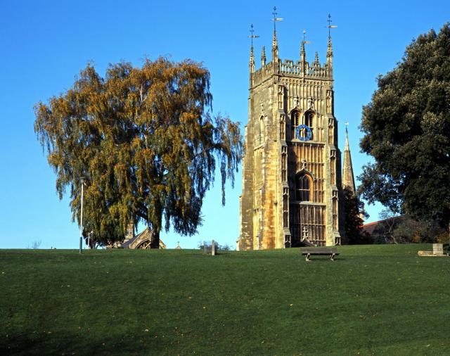Blossom Trail in England's Vale Of Evesham - Abbey Belltower, Evesham