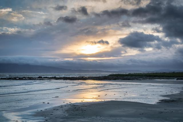 Northern Ireland Beaches - Rossglass at sunset