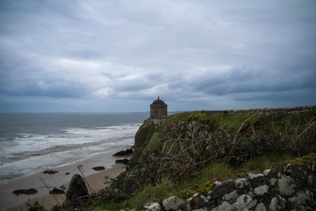 Northern Ireland Beaches - Downhill Beach and Mussenden Temple