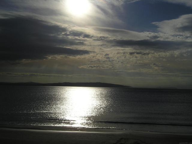 Northern Ireland Beaches - Portrush in moonlight, Causeway Coast