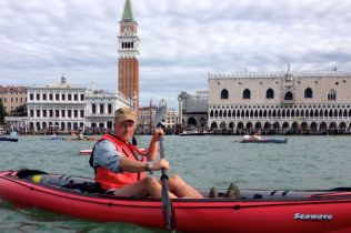 Me and my boat in Venice