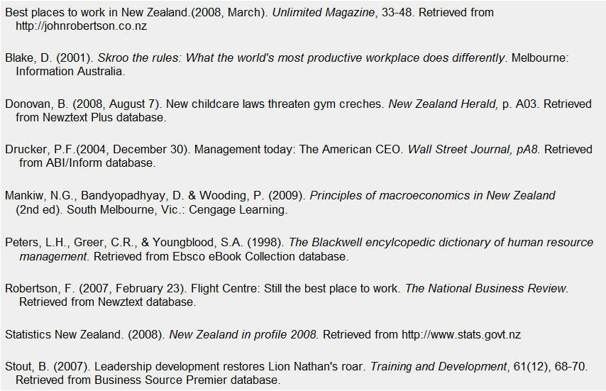 example of a reference list for a resume