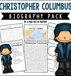 Christopher Columbus Biography Pack (New World Explorers) - A Page Out of  History [ 2400 x 2400 Pixel ]