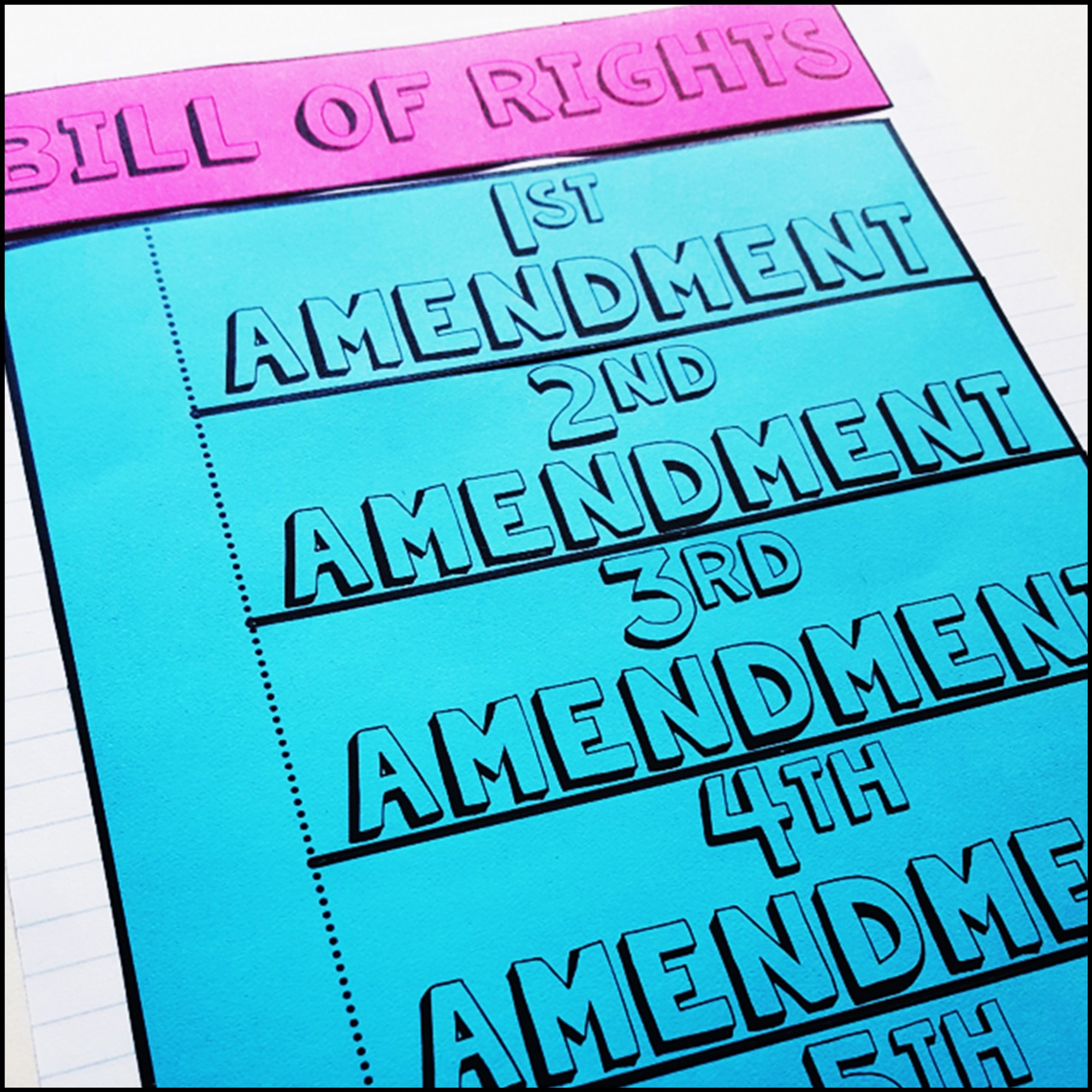 hight resolution of Bill of Rights Activity Pack - A Page Out of History