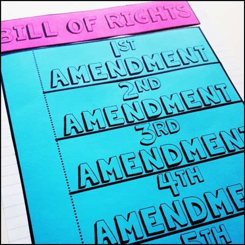 small resolution of Bill of Rights Activity Pack - A Page Out of History