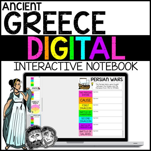small resolution of Ancient Greece Digital Interactive Notebook for Google Drive - A Page Out  of History