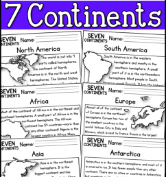 7 Continents Reading Comprehension Passages (K-2) - A Page Out of History [ 1150 x 720 Pixel ]