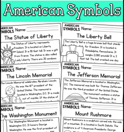 American Symbols Reading Comprehension Passages (K-2) - A Page Out of  History [ 1150 x 720 Pixel ]