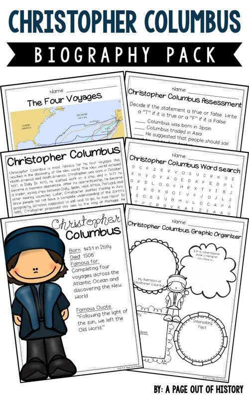 small resolution of Christopher Columbus Biography Pack (New World Explorers) - A Page Out of  History